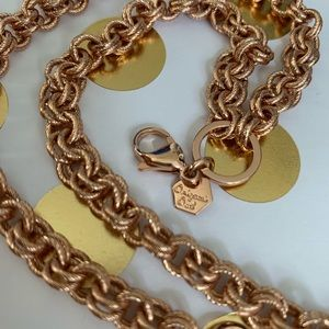 Origami Owl rose gold double link chain 18-20""